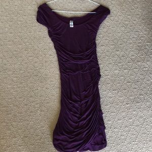 Free People ruched dress purple s